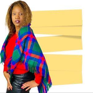 plaid multicolour large jumbo plaid scarf